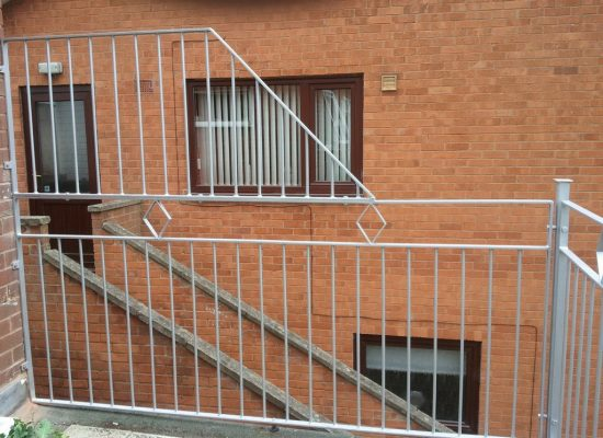 iron balustrade flat roof balcony
