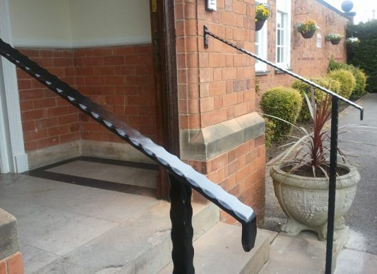 Decorative iron handrail