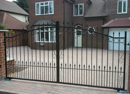 Bow Top Iron Gates