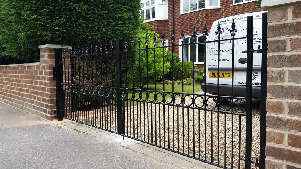Decorative Iron Driveway Gates
