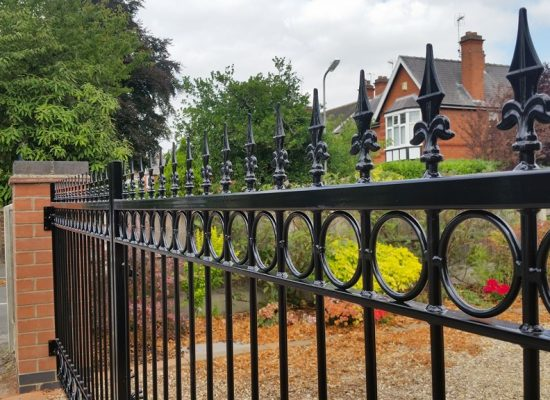 Heavy Decorative Iron Gates