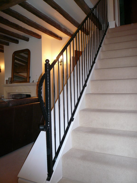 wrought iron stair rail panel