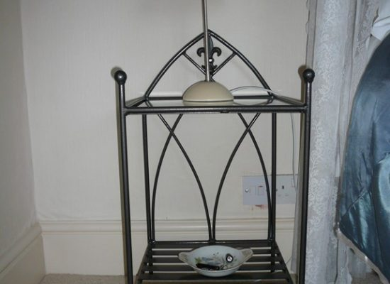 Decorative Iron Bedside Table