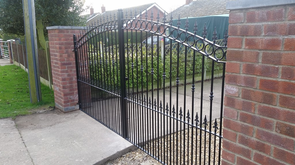 Decorative Heavy Double Iron Gates