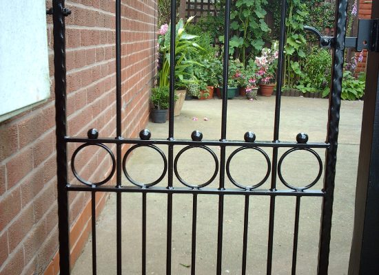 Decorative Pedestrian Iron Gate