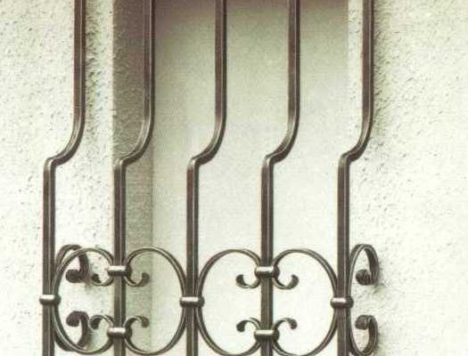 Ornate offset Window Grille
