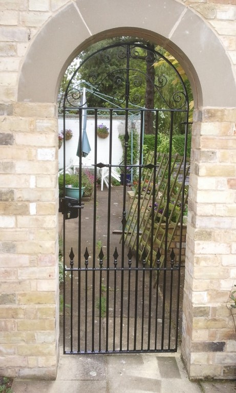 Wrought Iron Arched Passageway Gate