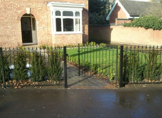Iron Fencing & Pedestrian Gate