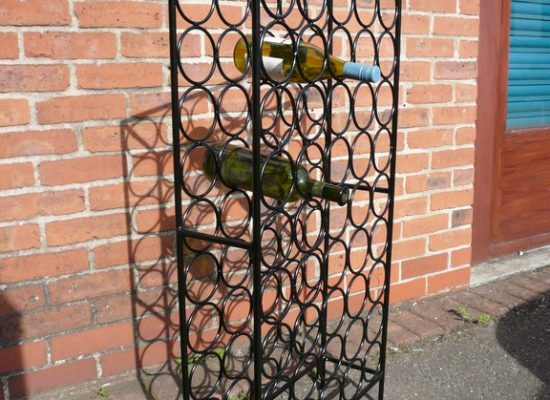 Large Iron Wine Rack